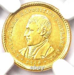 1904 Lewis & Clark Gold Dollar G$1 Certified NGC AU Detail Rare Coin
