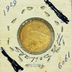 1909 $5 USA Gold Coin Indian Head Five Dollar Half Eagle American Coin USA