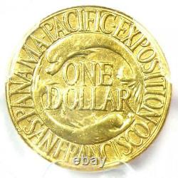 1915-S Panama Pacific Gold Dollar Pan-Pac G$1 Coin Certified PCGS AU Details