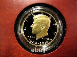 1964-2014 W. 9999 0.7500 Troy Oz 50th Anniversary Kennedy 1/2 $ Gold Pf Coin
