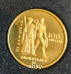 1976 Canada $100 Montreal Olympic Commemorative 22K Gold Coin 1/2 oz. GOLD COA