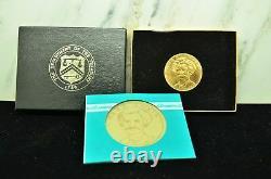 1981 MARK TWAIN COMMEMORATIVE MEDAL AMERICAN ARTS 1 OZ GOLD COIN UNC With BOX COA