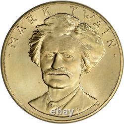 1981 US Gold (1 oz) American Commemorative Arts Medal Mark Twain BU
