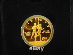 1984 US Olympic $10 Gold Eagle Proof -W Coins Lot of 1