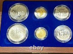 1986 United States Liberty Commemorative 6 Coin Set silver & gold proof Box/COA