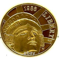 1986-W US Gold $5 Statue of Liberty Commemorative Proof Coin