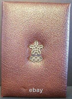 1987 CANADA $100 CALGARY OLYMPICS 14k 1/4oz Proof GOLD Coin with COA, Case & Box
