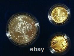 1987 US Constitution 4 Coin Set 2 Silver Dollars, 2 Gold $5 Proofs #9328