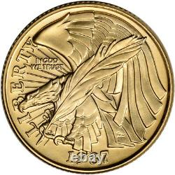 1987-W US Gold $5 Constitution Commemorative BU Coin in Capsule