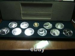 1988 Canadian Olympics 11 Coin Gold and Silver Set Original Case