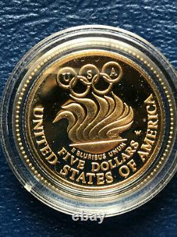 1988 W Five Dollar Gold Coin Olympiad Commemorative