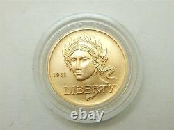 1988 -w $5 Gold Coin Olympic Commemorative Gold Coin Capsuled