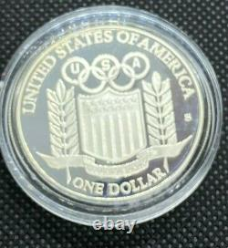 1992 Olympic 6 coin set - INCLUDING 2 $5 GOLD - WOW 99 CENT start NO RESERVE