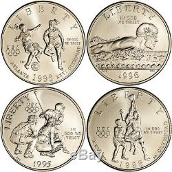 1995 1996 US Olympic Games 32-Coin Commemorative Proof and BU Set