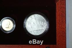 1996 Smithsonian Commemorative 4 Coin Gold & Silver Set BU & Proof in OGP JAH