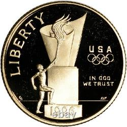 1996-W US Gold $5 Olympic Cauldron Commemorative Proof Coin in Capsule