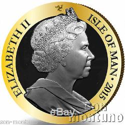 1/5 OZ GOLD PROOF COIN 2015 Isle of Man 175th Anniversary Penny Black Stamp