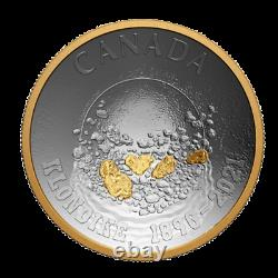 1oz Pure Silver Concave Coin125th Ani. Of the Klondike Gold Rush PLEASE READ