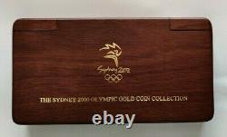 2000 Gold Sydney Olympics 8 Coin PROOF Complete Set with Jarrah Wood Box & COA
