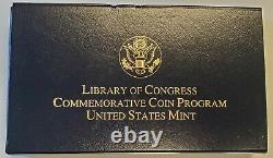 2000 Library of Congress $10 Bimetallic Gold & Platinum Proof Coin withCOA OGP