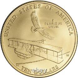 2003-W US Gold $10 First Flight Commemorative BU Coin in Capsule
