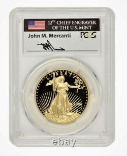 2006-W $50 Gold Eagle PCGS PR70DCAM FIRST STRIKE MERCANTI SIGNED POP 3 COIN