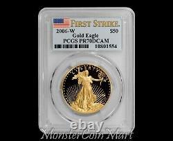2006-W $50 Gold Eagle PCGS PR70DCAM FIRST STRIKE POP 13 COIN! VERY RARE