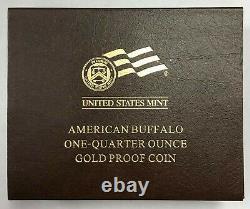 2008 W Gold Buffalo Quarter Ounce Proof Coin W OGP and COA