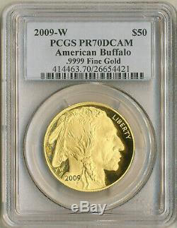 2009-W $50 Dollar Gold American Buffalo 1 oz Proof PCGS PR70DCAM