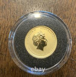 2013 1/10 Troy Ounce Gold Australia WW II Commemorative Coin BU Proof. 9999