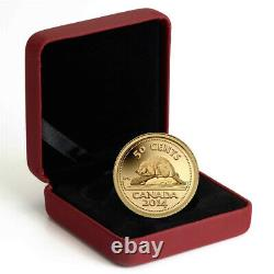 2014 50-Cent Pure Gold Coin Canadas Classic Beaver