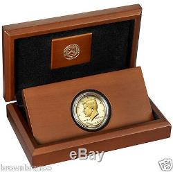 2014 50th Anniversary Kennedy Half Dollar 24K GOLD PROOF Coin K15 In Stock Ship