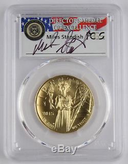 2015 W $100 High Relief Liberty 1 Oz 9999 Gold Coin PCGS MS70 First Strike Miles