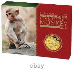 2016 Australia Lunar Year of the Monkey Gold Proof 3-Coin Set 1oz 1/4oz 1/10oz