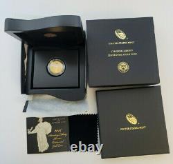 2016 Centennial Standing Liberty Quarter Gold Coin with US Mint Box/COA