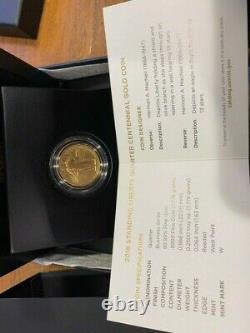 2016 Standing Liberty Quarter Centennial Gold Coin Original Packaging