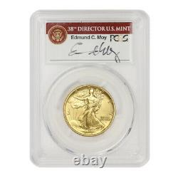 2016-W 50c Walking Liberty PCGS SP70 First Strike Gold Commemorative withMoy MS70