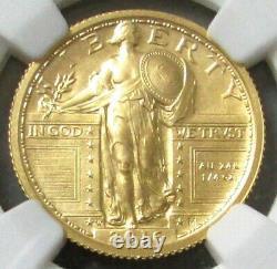 2016 W Gold Standing Liberty Quarter 25c Centennial 1/4 Oz Slq Ngc Sp70