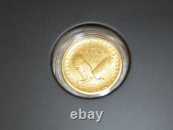2016 W Gold Standing Liberty Quarter Centennial Coin Box and COA