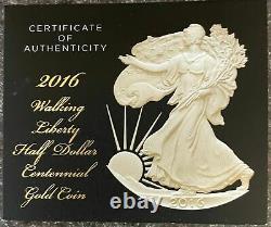 2016 Walking Liberty Centennial 1/2 Dollar. 500 oz Gold Coin