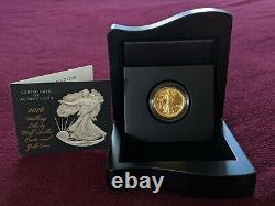 2016 Walking Liberty Half Dollar. 9999 Gold 1/2 OZ Coin withBox
