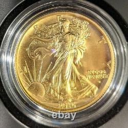 2016 Walking Liberty Half Dollar. 999 Gold 1/2 OZ Commemorative Coin withBox & COA