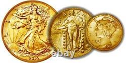 2016 -w Centennial 3 Gold Coin Set Half Dollar Quarter Dime Us Mint Pkg & Coa