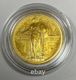 2016 -w Centennial Gold Coin Standing Liberty Quarter Original Mint Pkg & Coa