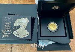 2016 -w Centennial Gold Coin Walking Liberty Half Dollar Orig Us Mint Pkg & Coa