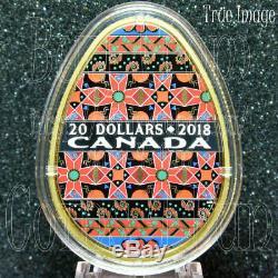 2018Traditional Ukrainian PysankaGolden Spring$20 Pure Silver Egg Shaped Coin