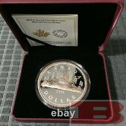 2018 Canada Big Coin Series #1 Voyageur $1 5 OZ Pure Silver with Rose Gold Dollar