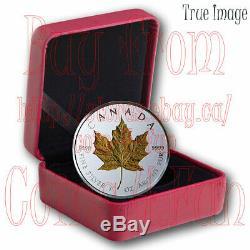 2019 40th Anniversary of Gold Maple Leaf GML $20 1 OZ Pure Silver Coin Canada