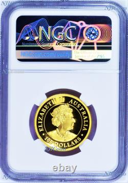 2019 Australia Kangaroo PROOF High Relief 1oz. 9999 GOLD $100 NGC PF70 Coin ER
