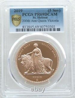 2019 St Helena Una and the Lion £5 Pound Sovereign Gold Proof Coin PCGS PR69 DC